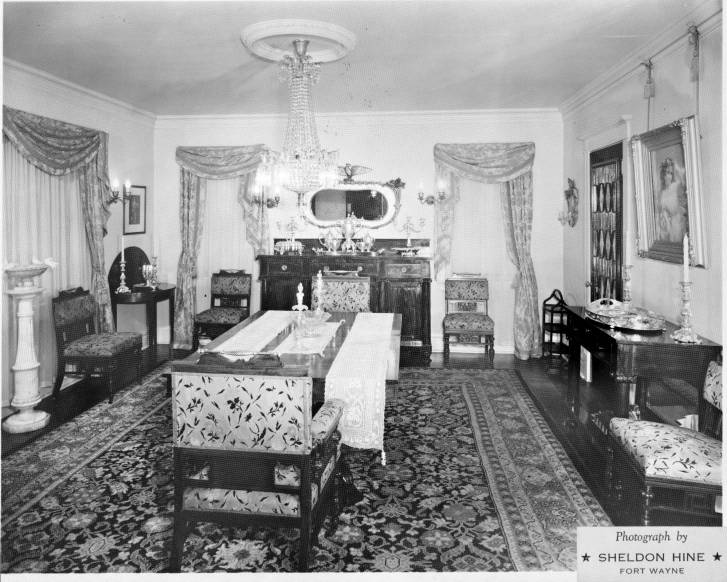 HOWELL COBB ROCKHILL HOUSE 1337 WEST WAYNE STREET FORT INTERIOR DINING ROOM LOOKING EAST FROM FRONT HALL