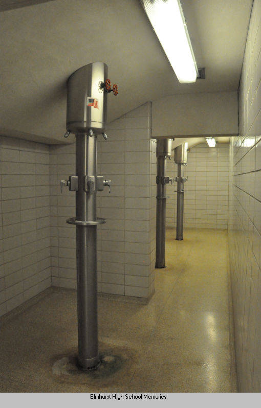 Boys locker room showers
