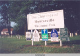 CHURCHES OF MONROEVILLE WELCOME SIGNS