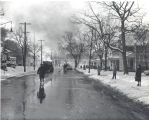 A series of natural gas explosions on Broadway Ave. about 10:00 a.m. Date 02/03/1966