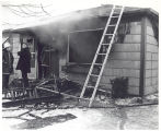 Fatal house fire at 4731 Winter Street. Robert LeCraw 80 years died. William George at left. Date...