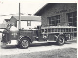 1955 American LaFrance 1000 g.p.m. pumper at Fire Station No. 14, 3400 Reed Road. This was a...