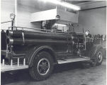 1938 International Harvester Pump in the Fort Wayne Fire Department Shop at 1717 South Lafayette...
