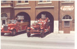 Bicentennial Parade. 1938 International Harvester Home built pumper and the 1927 Ahrens-Fox Pumper...