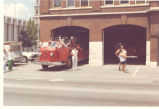 Bicentennial Parade. 1947 American LaFrance 100' Aerial Ladder Truck at the Firefighters Museum...