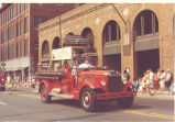 Bicentennial Parade. 1938 International Harvester Pumper. Donald A. and Andrew A. Weber. Date...