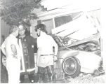Auto hits house at 4209 Reed Road. John Bastian & wife were unhurt. Driver of car was Bill...