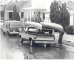Flood of 1978 in Fort Wayne, IN. Greenwood Ave. off West Main Street. Donald A. Weber and Thomas...