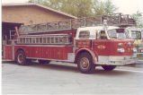1973 American LaFrance 100' Aerial Ladder Truck at Fire Station No. 9, 2530 East Pontiac Street....