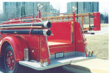 1942 International Harvester 1000 g.p.m. pumper that was built by the Fort Wayne Fire Department...