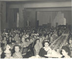 A meeting of the Fort Wayne Firemen's Wives Auxiliary after 1945. LaDonna Wiseley Weber is on the...