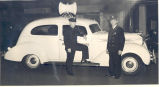 Fort Wayne Fire Prevention Bureau. L-R: Clinton Baals and Arthur Kring. No date.