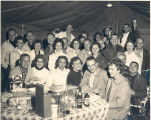 Backyard party at the home of Fred Kreamelmeyer Jr. on Curdes Ave. L-R front: Robert &...