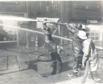Allen County Tire Company fire at Broadway and West Creighton Street. Date 09/25/1977.