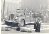1958 Maxim Pumper No. 13 at Fort Wayne Waste Paper Company fire 301 East Columbia Street. Date...