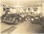 1940's International Harvester home built pumper in a fire station. Iron lung also in picture....