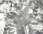 Aerial view of the natural gas explosions in the 3300 block of Broadway Ave.. about 10:00 a.m....