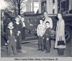 Cub Scouts at Fire Station No. 11.