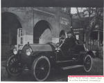 Assistant Fire Chief George W. Jasper in a new 1913 Speedwell Automobile. George is in front of...
