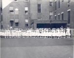 150 Nurses Evacuated at Fire Prevention Week 1950