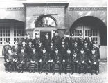 Firemen in front of Fire Station No. 3, 226 West Washington. Seated L-R: Captain William Haiber,...