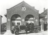 1927 Ahrens Fox Pumper and crew at Fire Station No. 10, 1245 East State Blvd. Station No. 10 was...