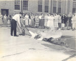 Extinguisher Training on CO2 Fire Extinguisher in 1951