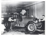 1920 American LaFrance Pumper at Fire Station No. 2, 436 East Wallace. On back of pumper Robert...