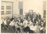 Dinner at Fire Station No. 8, 2211 Fairfield Ave. L-R 1st row: Clifford Butler, Fred...