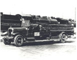1926 Seagrave Service Ladder Truck on way to St. Louis Mo. Date 03/11/1955