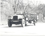 1926 Seagrave Service Ladder Truck on way to St. Louis Mo. Herbert Harnish and Ellsworth Crick on...