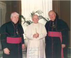 Bishops D'Arcy and Crowley with Pope John Paul II