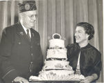 American Legion Auxiliary presenting of the birthday cake at the 37th Annual Birthday Party, March...