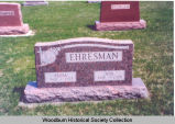 Anna and Asa Ehresman headstone, Allen County, Indiana