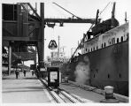 BETHLEHEM STEEL'S UNLOADING DOCK AT BURNS HARBOR.  NEWS-SENTINEL, JUNE 15, 1970, PG. 9A.