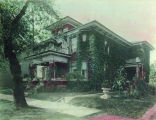 HOUSE AT 1010 FULTON STREET, LATER J. H. BOLENS APARTMENTS, FORT WAYNE. HAND COLORED PHOTOGRAPH...