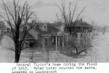 GENERAL JOHN TIPTON'S HOUSE IN LOGANSPORT DURING THE FLOOD OF 1913; THEWATER LATER REACHED THE...