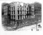 Aveline House Hotel, Fort Wayne IN: after fire of 3 May 1908. Include First National Bank.
