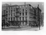 Aveline House Hotel, Fort Wayne IN: after fire of 3 May 1908. Includes First National bank and...