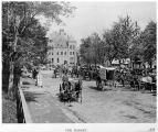 Barr Street Market, Fort Wayne IN: looking north, 1898. Reproduced from a printed source....