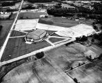 Allen County War Memorial Coliseum, Fort Wayne IN: aerial view with numbers attached. Number...