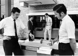 Fort Wayne National Bank, Fort Wayne IN: branch opening. (l-r) Bill Goodman, manager of Haag's;...