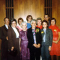 Allen County Public Library: retirement party for Jacqueline Belschner, 1983, showing Stabler...
