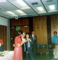 Allen County Public Library: retirement party for Jacqueline Belschner in Room 4, 1983. Showing...
