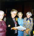 Allen County Public Library: retirement party for Jacqueline Belschner, 1983, showing (l-r)...