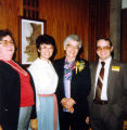 Allen County Public Library: retirement party for Jacqueline Belschner, 1983, showing (l-r) Laura...