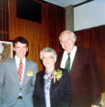 Allen County Public Library: retirement party for Jacqueline Belschner, 1983: showing (l-r) Rick...