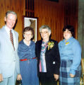 Allen County Public Library: retirement party for Jacqueline Belschner, 1983, showing (l-r) James...