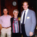 Allen County Public Library: retirement party for Jacqueline Belschner, 1983, showing (l-r) Jim...
