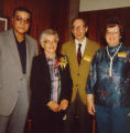Allen County Public Library: retirement party for Jacqueline Belschner, 1983: showing (l-r) Robert...